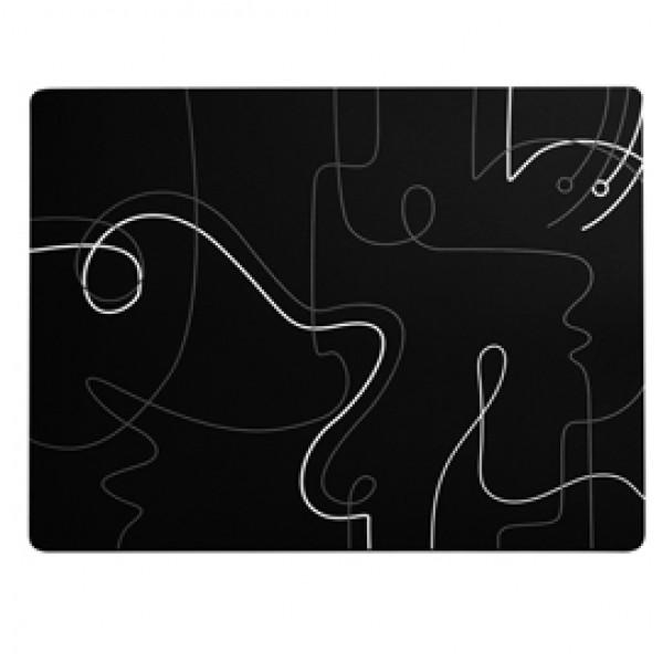 Tovagliette americana linea Linee - 41 x 31 cm - nero - Stilcasa