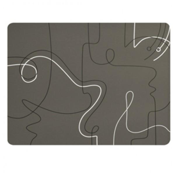 Tovagliette americana linea Linee - 41 x 31 cm - tortora - Stilcasa