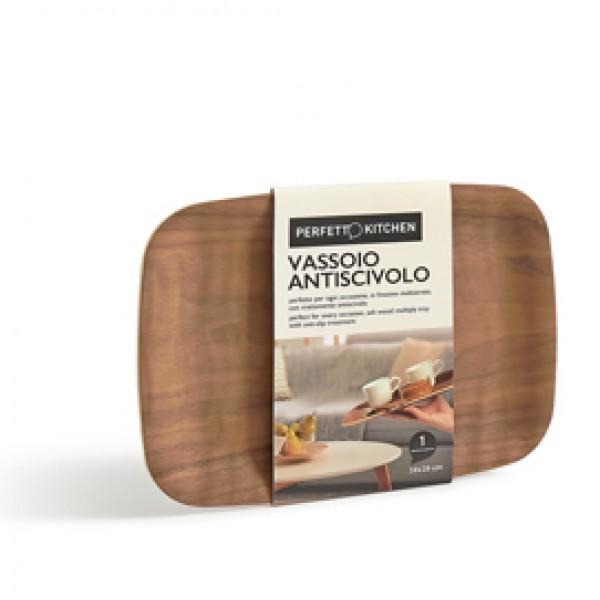 Vassoio antiscivolo - in legno frassino - 28 x 20 cm - Perfetto