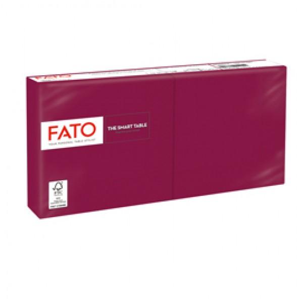 Tovagliolo - carta - 25 x 25 cm - 2 veli - bordeaux - Fato - conf. 100 pezzi
