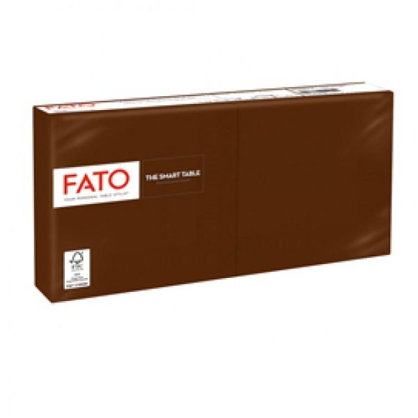 Tovagliolo - carta - 25 x 25 cm - 2 veli - cioccolato - Fato - conf. 100 pezzi