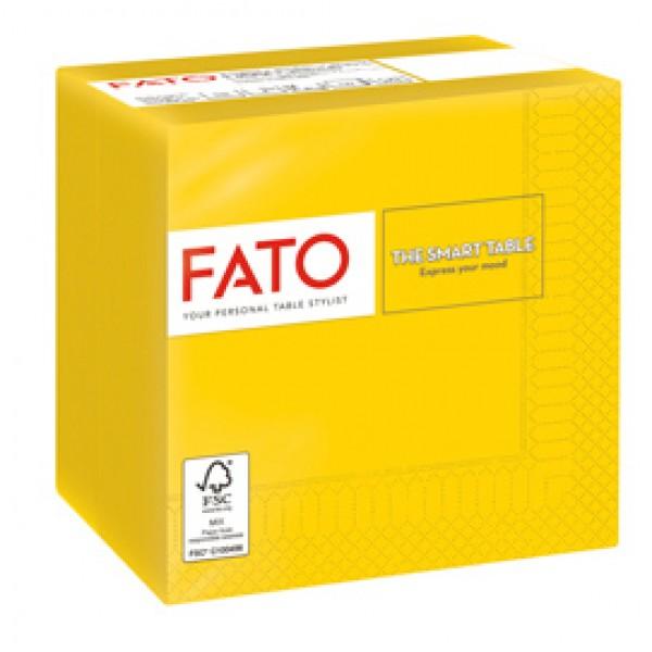 Tovagliolo - carta - 24 x 24 cm - 2 veli - giallo - Fato - conf. 100 pezzi