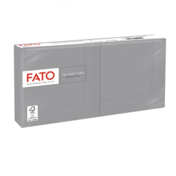 Tovagliolo - carta - 25 x 25 cm - 2 veli - grigio - Fato - conf. 100 pezzi