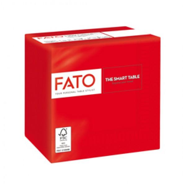 Tovagliolo - carta - 25 x 25 cm - 2 veli - rosso - Fato - conf. 100 pezzi