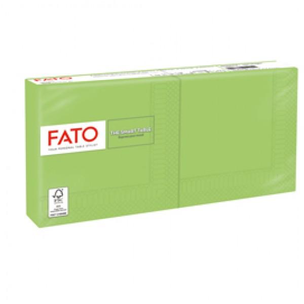 Tovagliolo - carta - 25 x 25 cm - 2 veli - verde mela - Fato - conf. 100 pezzi