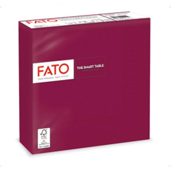 Tovagliolo - carta - 33 x 33 cm - 2 veli - bordeuax - Fato - conf. 50 pezzi