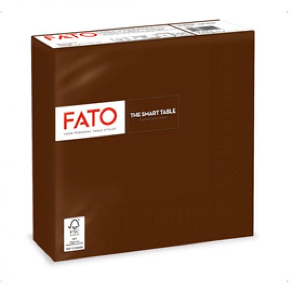 Tovagliolo - carta - 33 x 33 cm - 2 veli - cioccolata - Fato - conf. 50 pezzi