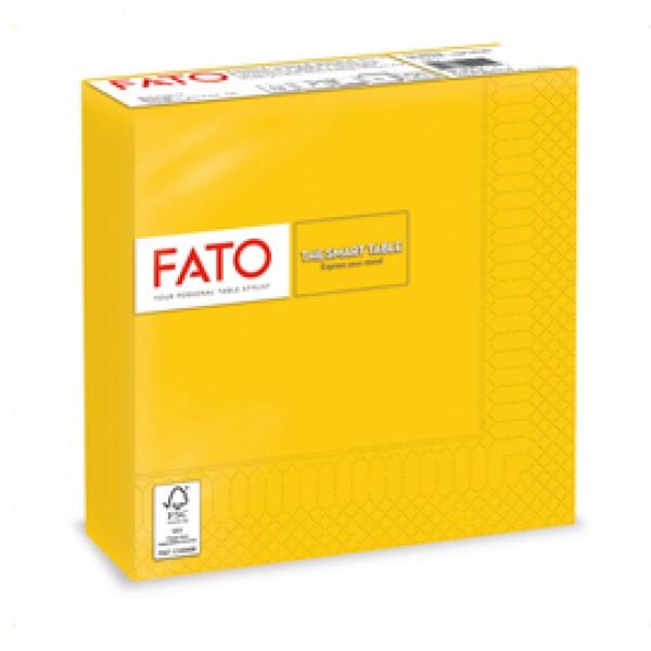 Tovagliolo - carta - 33 x 33 cm - 2 veli - giallo - Fato - conf. 50 pezzi