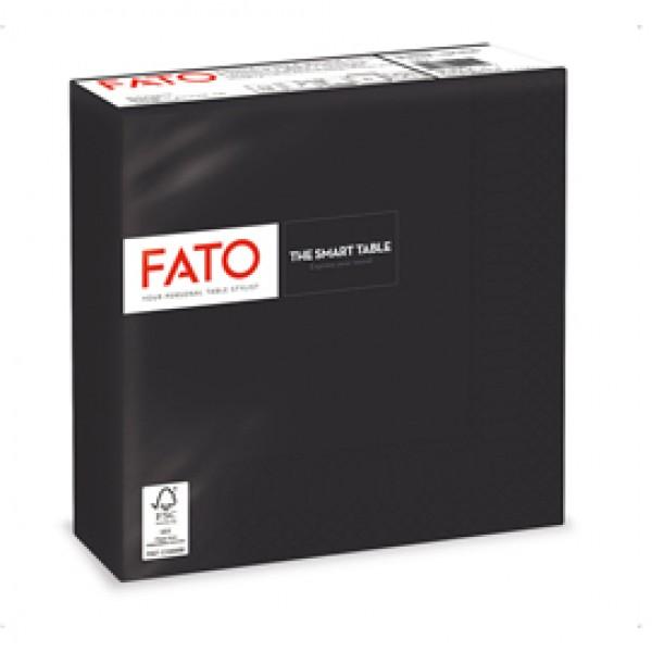 Tovagliolo - carta - 33 x 33 cm - 2 veli - nero - Fato - conf. 50 pezzi