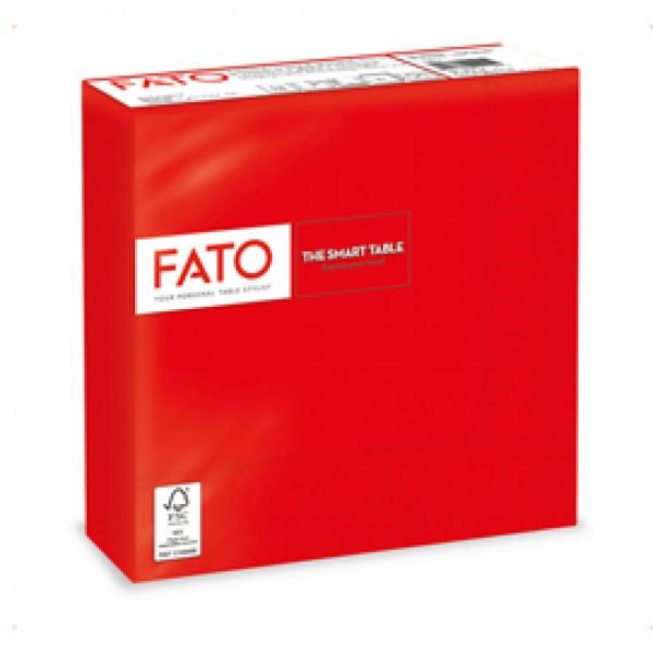 Tovagliolo - carta - 33  x33 cm - 2 veli - rosso - Fato - conf. 50 pezzi