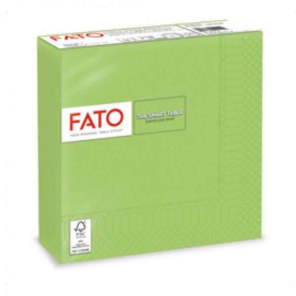 Tovagliolo - carta - 33 x 33 cm - 2 veli - verde mela - Fato - conf. 50 pezzi