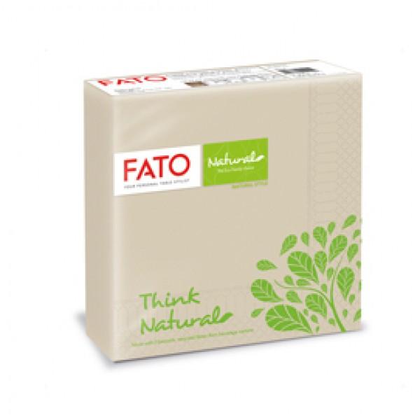 Tovagliolo linea Natural Style - carta - 2 veli - 33 x 33 cm - Fato - conf. 50 pezzi