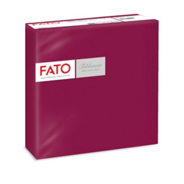Tovagliolo linea AirLaid - carta - 40 x 40 cm - bordeuax - Fato - conf. 50 pezzi