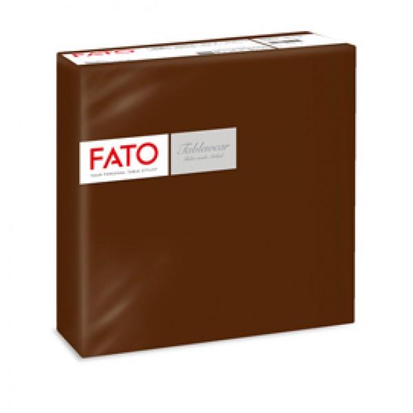 Tovagliolo linea AirLaid - carta - 40 x 40 cm - cacao - Fato - conf. 50 pezzi
