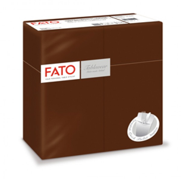 Quick pocket linea AirLaid - 40 x 40 cm - cacao - Fato - conf. 50 pezzi