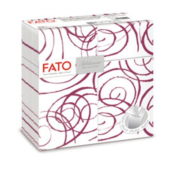 Quick pocket linea Magie - 40x40 cm - bordeaux/bianco - Fato - conf. 40 pezzi