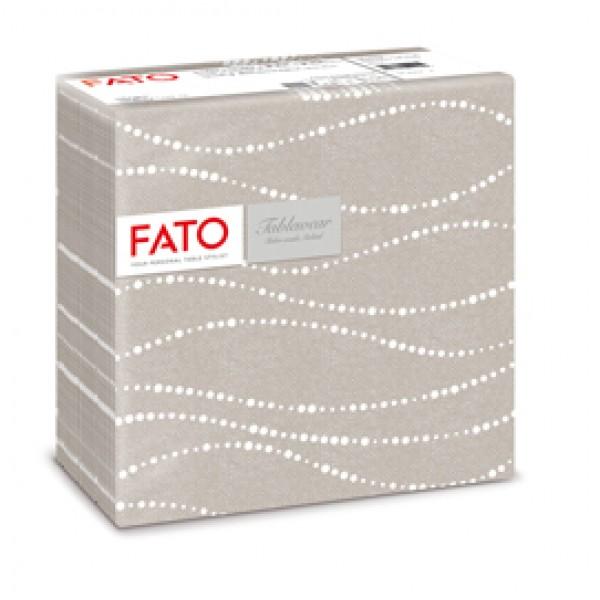 Tovaglioli linea Airlaid - 40 x 40 cm - perla / tortora - Fato - conf. 50 pezzi