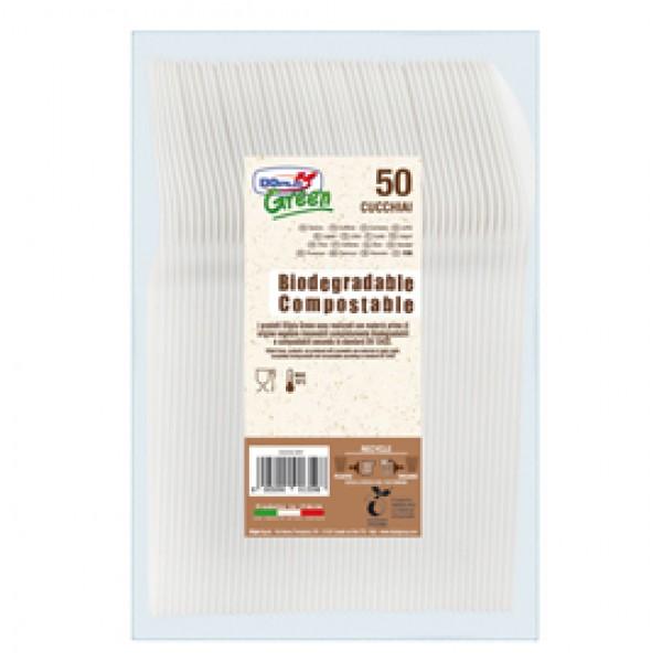 Cucchiai in Estabio - avorio - Dopla Green - conf. 50 pezzi