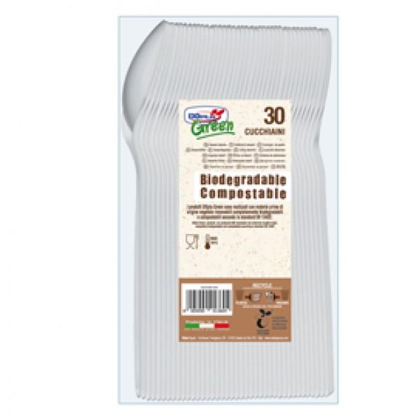 Cucchiaini in Estabio - avorio - Dopla Green -  conf. 30 pezzi
