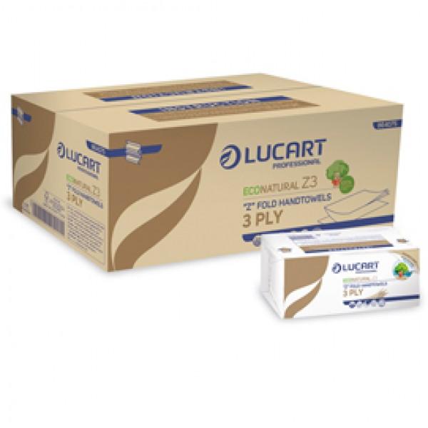 Asciugamani piegati a Z EcoNatural Plastic Free - Lucart - pacco da 198 pezzi