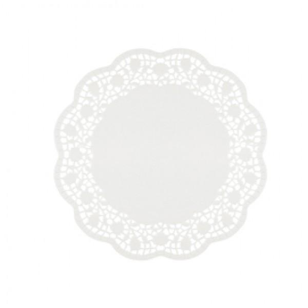 Sottotorta decorativi in carta bianca - diametro 27 cm - conf. 6 pezzi
