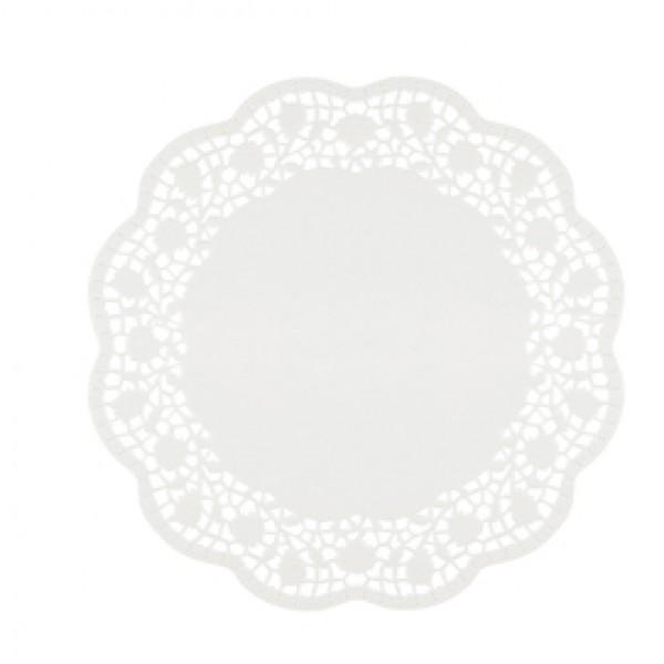 Sottotorta decorativi in carta bianca - diametro 30 cm - conf. 12 pezzi