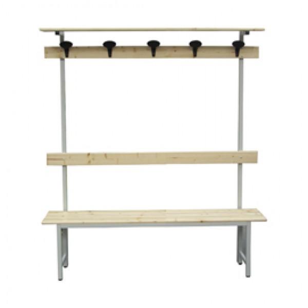 Panca in legno con alzata - a 5 posti - 150 x 40 x 185 cm - Fasma