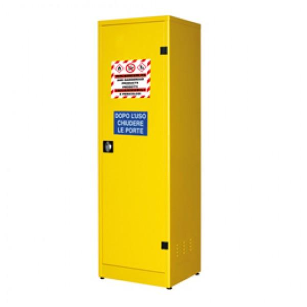 Armadio di sicurezza per liquidi infiammabili - 57,5 x 50 x 185 cm - giallo - Carvel