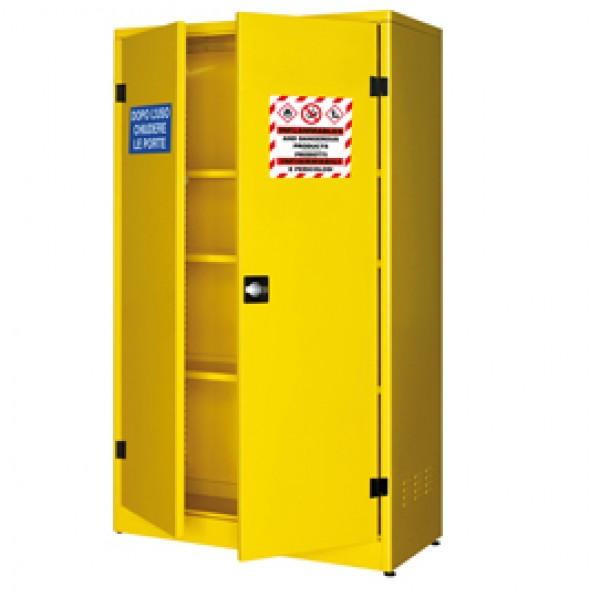 Armadio di sicurezza per liquidi infiammabili - 107,5 x 50 x 185 cm - giallo - Carvel