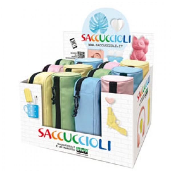Astuccio Saccuccioli Basic Pastel - colori e forme assortiti - Lebez - expo 12 pezzi