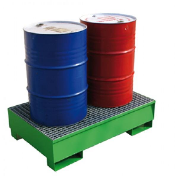 Vasche di raccolta a tenuta stagna - per 2 fusti - 134 x 85 x 33 cm - Carvel