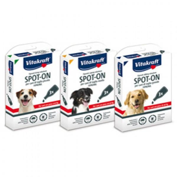 Soluzione per infestazioni pulci e zecche Spot On - per cani da 2 a 10 kg - Vitakraft