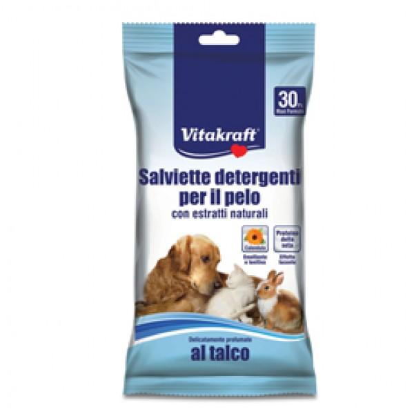 Salviette detergenti per pelo di animali (cani, gatti, roditori) - Vitakraft - conf. 30 pezzi