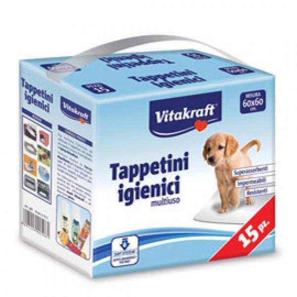 Tappetini igienici multiuso per cani e gatti - 60 x 60 cm - Vitakraft - conf. 15 pezzi