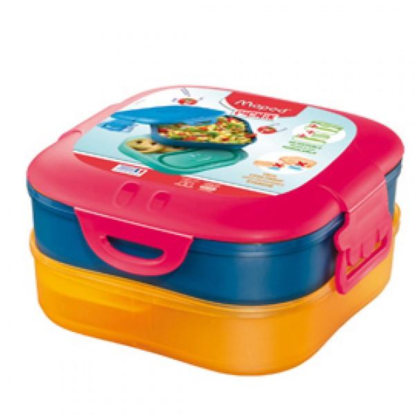 Lunch box 3 in 1 Picnick Concept - rosa corallo - Maped
