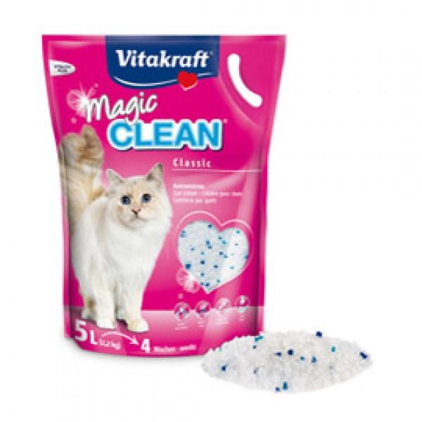 Magic Clean per lettiera per gatti - in scaglie di silicio - 5 L - Vitakraft