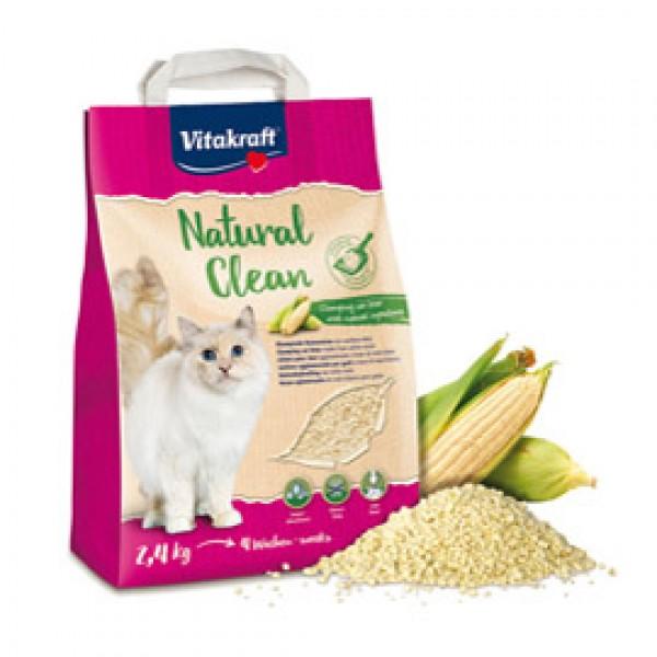 Natural Clean per lettiera al mais bianco - per gatti - formato 2,4 kg - Vitakraft