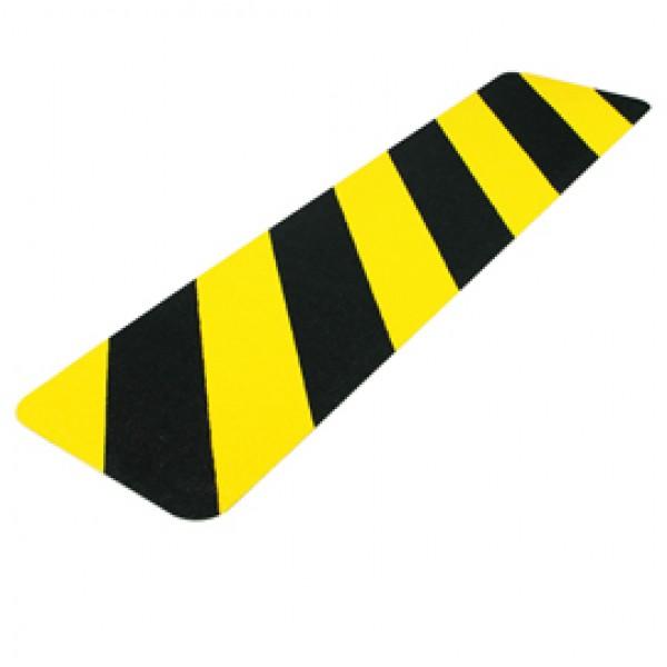 Striscia segnaletica da terra - giallo / nero - 610 x 150 mm - Tarifold