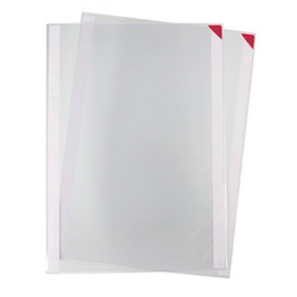 Tasche a L con retro adesivo - A4 - rosso - Tarifold - conf. 5 pezzi