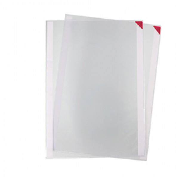 Tasche a L con retro adesivo - A3 - rosso - Tarifold - conf. 2 pezzi