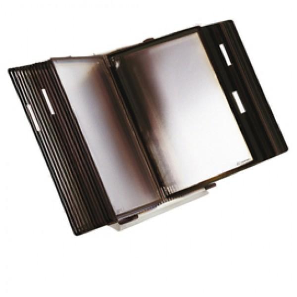 Leggio antibatterico da tavolo + 10 buste - A4 - nero - Tarifold