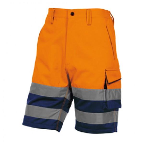 Bermuda da lavoro PHBE2 alta visibilità - panostyle - tg. XXL - arancio fluo - Deltaplus