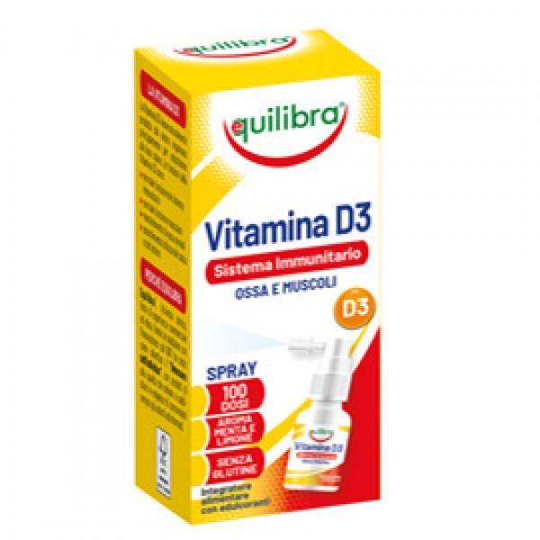 Integratore spray Vitamina D3 - sistema immunitario, ossa & muscoli - 13 ml - Equilibra