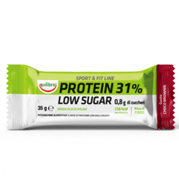 Integratore Sport & Fit Line Protein 31% - low sugar choco brownie - 35 gr - Equilibra
