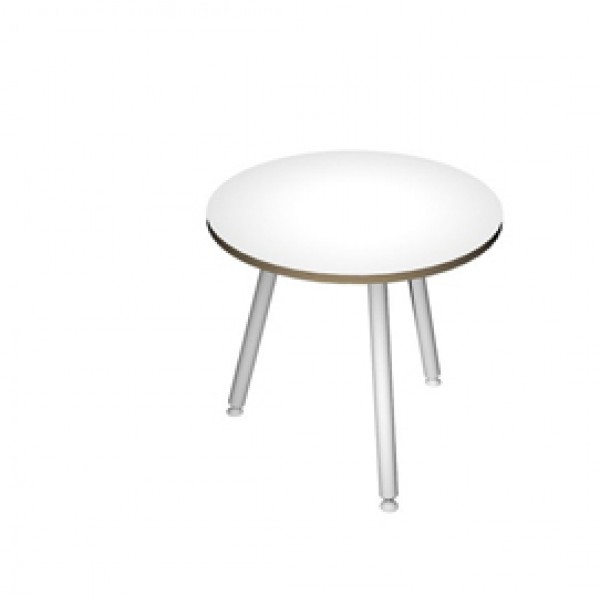 Tavolo riunione tondo Skinny Metal - Ø 80 cm - bianco - Artexport