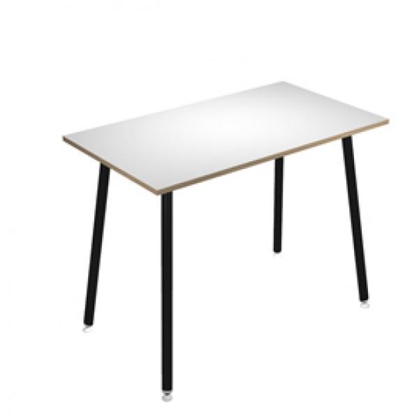 Tavolo alto Skinny Metal - 180 x 80 x H 105 cm - nero / bianco - Artexport