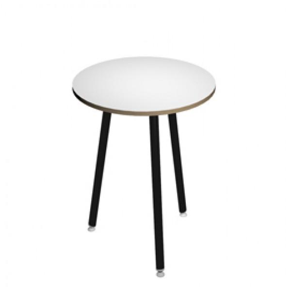 Tavolo alto tondo Skinny Metal - Ø 80 x H105 cm - nero / bianco - Artexport