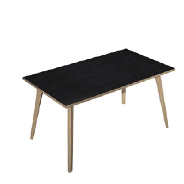 Scrivania Woody - 140 x 80 x H 74,4 cm - rovere / nero venato - Artexport
