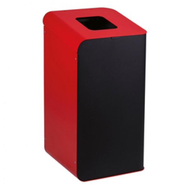 Gettacarte Rubik - per raccolta differenziata - 80 L - rosso - Medial International