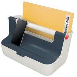 Cassetta portaoggetti con maniglia Cosy - grigio - Leitz